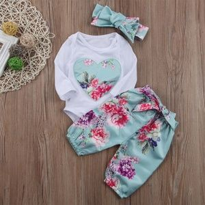 Other - 3pc Baby Girls Clothes Long Sleeve Romper Bodysuit
